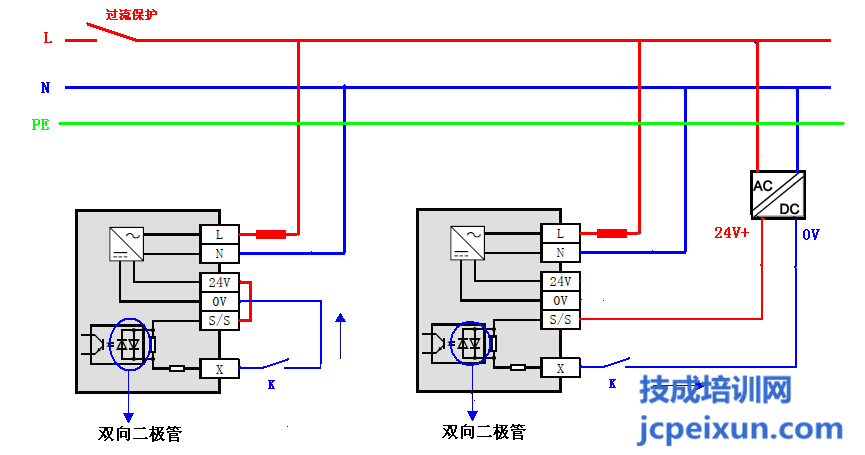 fx3uplc输入接线