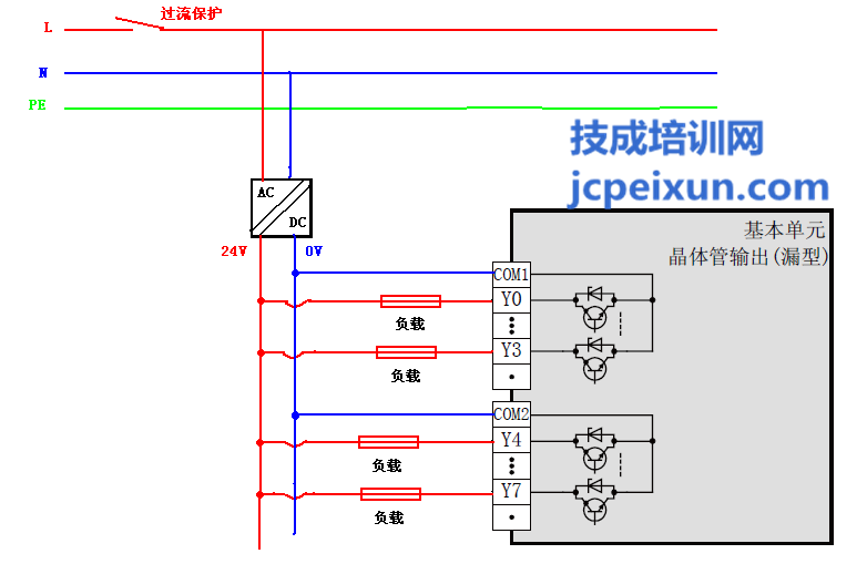 fx3uplc输出接线