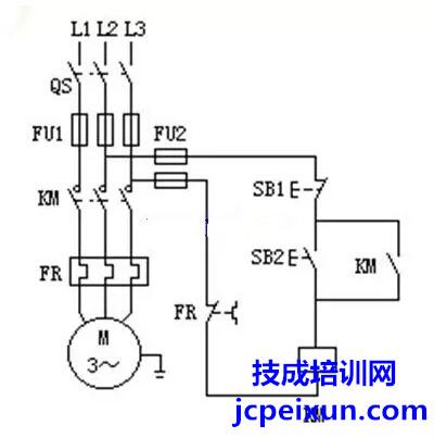 连续运转电路,正反转电路,多地控制线路,降压启动线路,多速异步电动机
