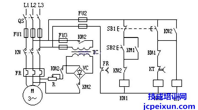 单向反接制动控制电路