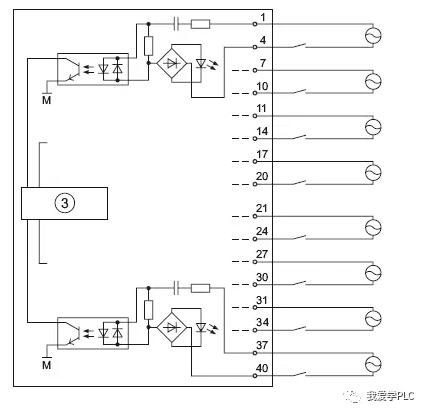 s7-300plc数字量输入模块接线图分享(数字量输入模块)